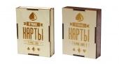 """2809 Подарочная коробка для хранения игральных карт """"Карты Игральные"""" (8х10,6х2,8 см)"""