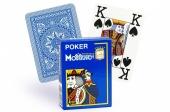 """300488 Игральные карты 100% Пластик """"Покер 4 Джамбо"""" (голубая рубашка) 54 листа"""