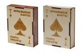 """2808 Подарочная коробка для хранения игральных карт """"Пиковая масть"""" (8х10,6х2,8 см)"""