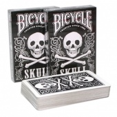 "9123 Коллекционные карты Bicycle ""Skull""  54 листа"
