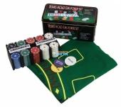 ГД9к Мятая банка Металл. банка для покера (2х54л.(карты К)+200 ф. по 4г с номин.+сукно+3 ф.дилера)