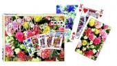 """2298 Карточный набор """"Цветочный рай"""" красные(2х55 листов)"""