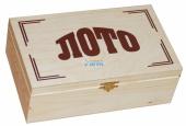 3006 Лото в деревянной шкатулке светлое