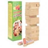 """5292 Настольная игра """"Джанга - Фанты"""" (33х7,5х7,5 см) дерево сосна"""