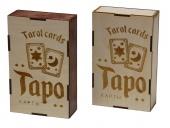 2806 Подарочная коробка для хранения карт Таро Луна и Солнце (10х16х40 см)