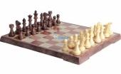 3520L Шахматы магнитные (31х18х4,5 см) (Коричневая доска, детализированные фигуры)
