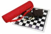 4501 Шахматы в чехле (45х45 см) (шахм.поле - ткань, фигуры - пластик)