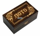 3001 Лото подарочное в деревянной резной шкатулке